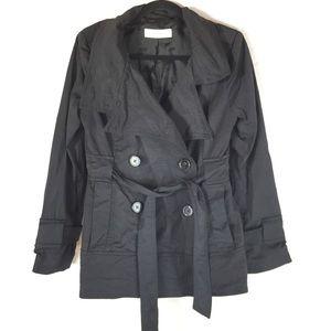 Zara Woman Medium Jacket Black Tie Front